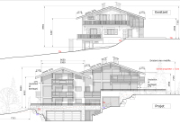 South elevations, 517m2 chalet