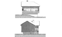 West & East elevations