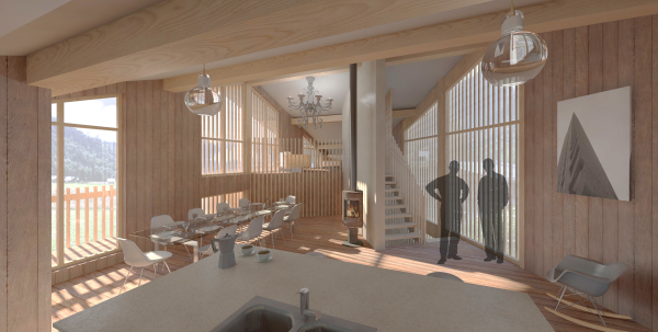 CGI Internal view of new chalet