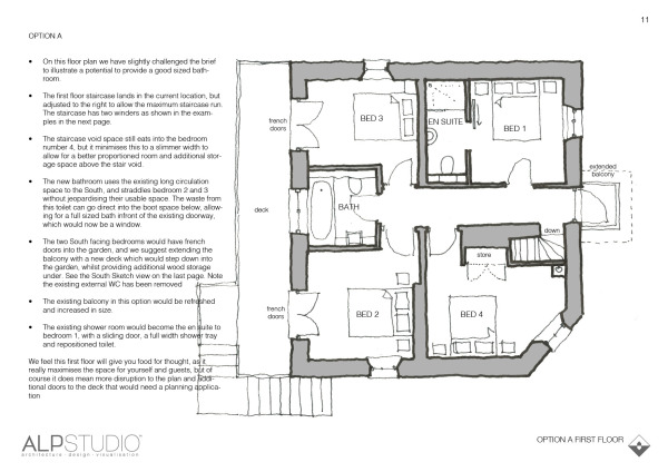 Page 10 : suggested first floor layout, option A