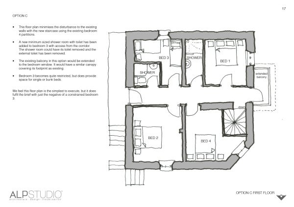 Page 15 : suggested ground floor layout, option C